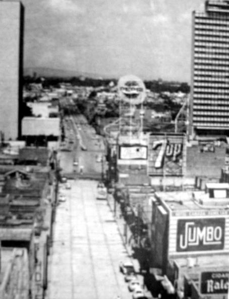 Av. Niños Héroes viendo al poniente, desde el edificio de la Central de Autobuses (circa 1968)