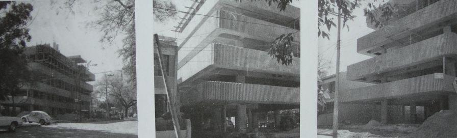 Edificio Luviano en contrucción, 1978