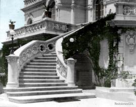Detalle de escalera (interpretación a color), Chalet Nig-Bell