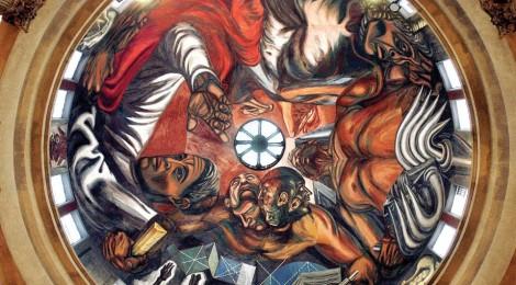 Mural de Orozco en el domo del Paraninfo