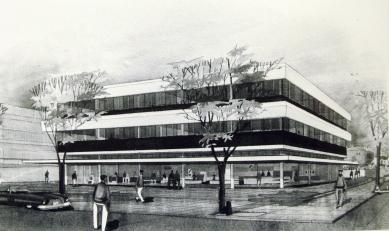 Dibujo original del arquitecto Hartung